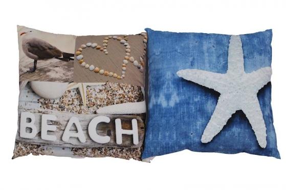 "Dekoratyvinė pagalvė ""Paplūdimys"", 45 x 45 cm"