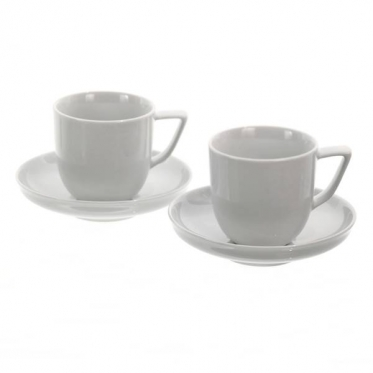 """""""Rosenthal"""" porcelianinių puodelių su lėkštutėmis rinkinys """"Bianchi"""", 220 ml"""