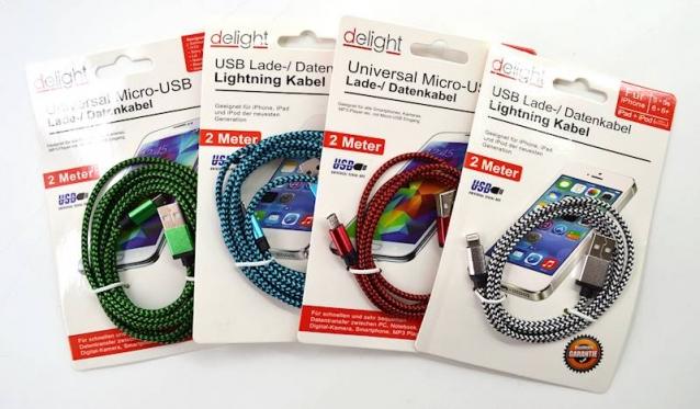 "Micro USB kabelis ""Delight"", 2 m"