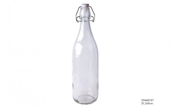 Stiklinis butelis su sandariu dangteliu, 1 l