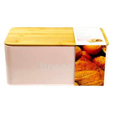 Metalinė duoninė su dangčiu - pjaustymo lentele, 31 x 17,5 x 13,5 cm