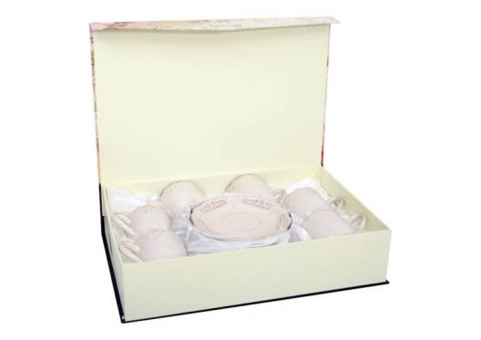 """Elegantiškas puodelių ir lėkštučių rinkinys """"Amelia"""", 12 vienetų"""