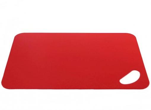 Raudona plastikinė pjaustymo lentelė, 29 x 19 cm