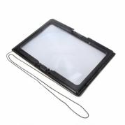 Padidinamasis stiklas su LED apšvietmu, 27,5 x 20,5 cm