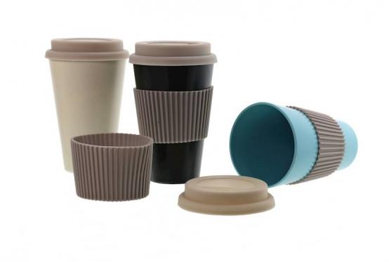 Ekologiškas kelioninis puodelis su dangteliu, 350 ml