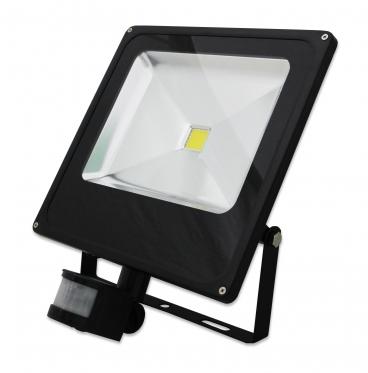 LED prožektorius su judesio davikliu, 100 W