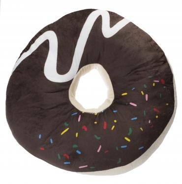"""Dekoratyvinė pagalvėlė """"Šokoladinė spurga"""", 40 x 10 cm"""