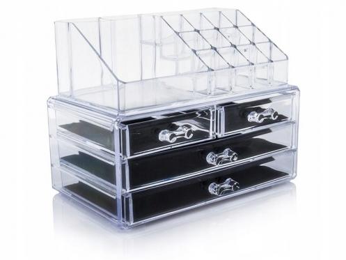 Akrilinė makiažo priemonių lentynėlė, 23,5 x 13,5 x 10,5 cm