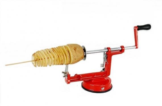 Nerūdijančio plieno spiralinė bulvių pjaustyklė