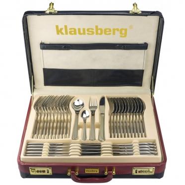 "Nerūdijančio plieno stalo įrankių komplektas ""Klausberg"", 72 vnt"