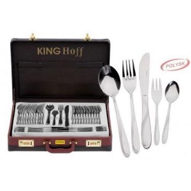 "Nerūdijančio plieno stalo įrankių komplektas ""King Hoff"", 72 vnt"