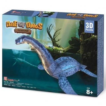 """""""Cubic Fun"""" 3D dėlionė """"Plesiozauras"""", 29 x 28 x 18 cm"""