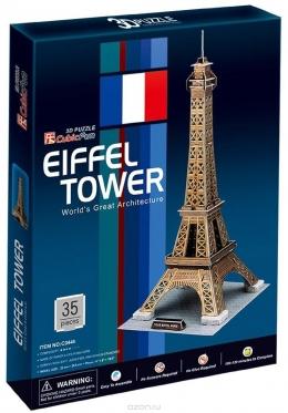 """Cubic Fun"" 3D dėlionė ""Eifelio bokštas"", 20,5 x 23 x 47 cm"