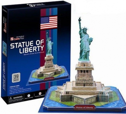 """""""Cubic Fun"""" 3D dėlionė """"Laisvės statula"""", 26 x 26 x 23 cm"""