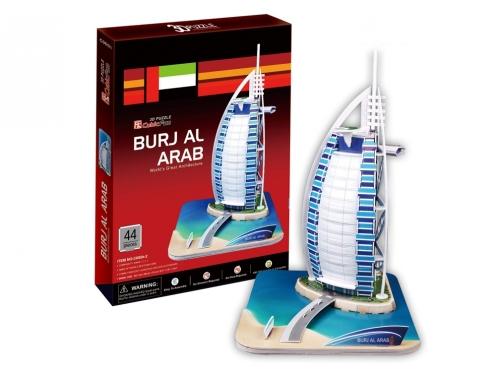 """Cubic Fun"" 3D dėlionė ""Viešbutis Burj al Arab"", 31 x 24,7 x 20 cm"
