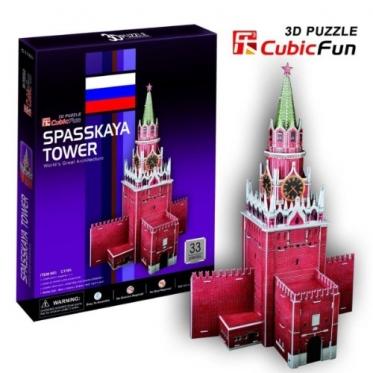 """Cubic Fun"" 3D dėlionė ""Spasskaya bokštas"", 38 x 26 x 15,5 cm"