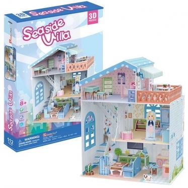 """""""Cubic Fun"""" 3D dėlionė """"Lėlių paplūdimio vila"""", 32 x 25,5 x 17,5 cm"""