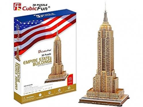 """Cubic Fun"" 3D dėlionė ""Empire State pastatas"", 52 x 23 x 14 cm"