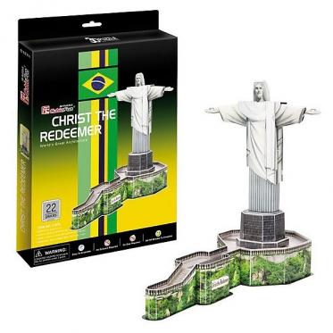 """Cubic Fun"" 3D dėlionė ""Kristaus Atpirkėjo statula"", 42 x 34 x 22,5 cm"