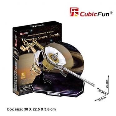 """Cubic Fun"" 3D dėlionė ""Kosminis palydovas Voyager"", 33,9 x 26,4 x 22,5 cm"