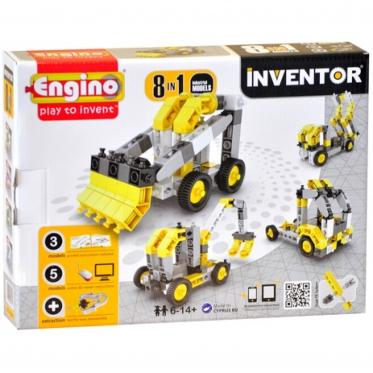 """""""Engino"""" konstruktorius """"Pramoninis transportas"""", 8 modelių"""