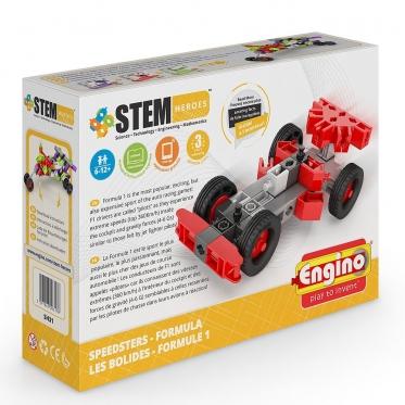 """""""Engino"""" konstruktorius """"Lenktyninė mašina Formula"""""""