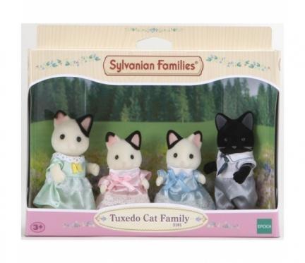 """Tuxedo kačiukų šeimynėlė """"Sylvanian Families"""""""