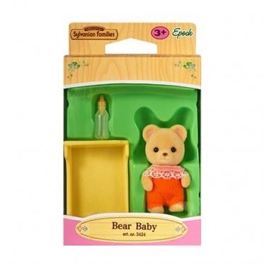 """Meškiukų vaiko rinkinys """"Sylvanian Families"""" (oranžiniai drabužiai)"""