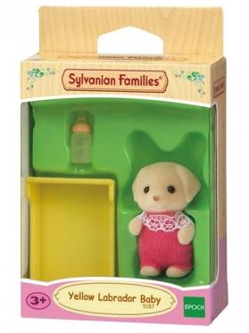 """Geltonųjų labradorų vaiko rinkinys """"Sylvanian Families"""""""