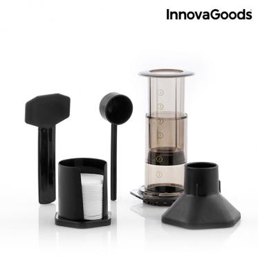 """Kavinukas su kavos tirščių nuspaudėju """"InnovaGoods"""", 300 ml"""