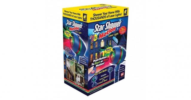 """Lazerinis šviesos efektų projektorius """"Star Shower Motion"""""""