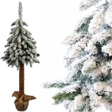 Dirbtinė Kalėdinė eglutė su sniego imitacija, 160 cm (balta)