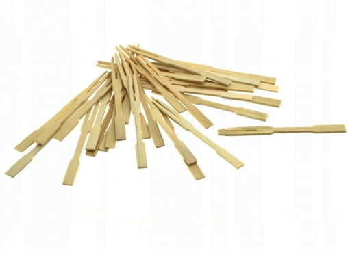 Bambukinės šakutės užkandžių serviravimui, 30 vnt