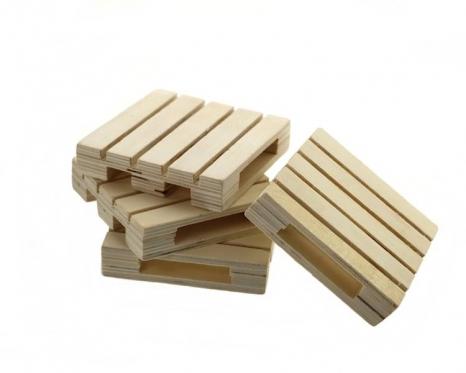 Dekoratyvinės medinės EURO paletės, 4 vnt