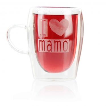 Dvigubo stiklo puodelis, 300 ml