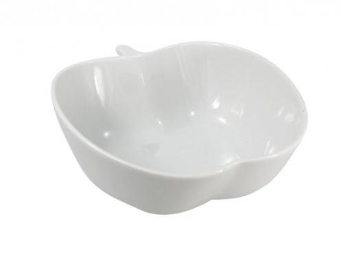 Obuolio formos porcelianinė salotinė, 23 x 9 cm