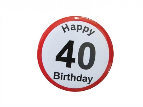 """Prisegamas ženkliukas """"Happy Birthday 40"""""""