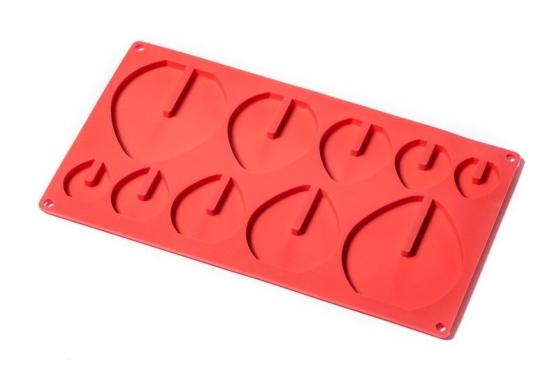 Silikoninė formelė šokoladiniams kiaušiniams, 28,9 x 16,8 x 0,7 cm