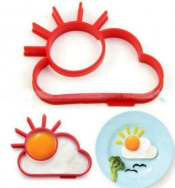 """Formelė kiaušiniams kepti """"Saulė ir debesėlis"""", 12,5 x 9 x 1,8 cm"""