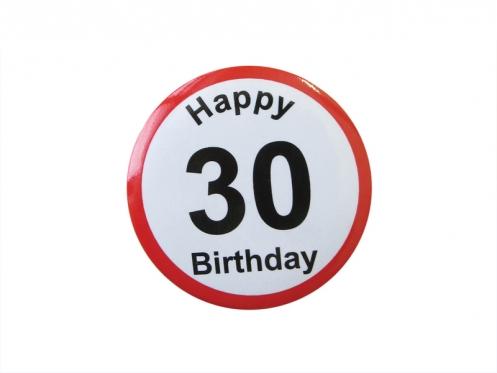 """Prisegamas ženkliukas """"Happy Birthday 30"""""""