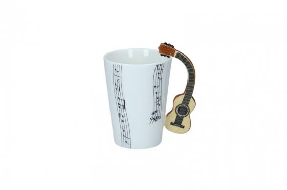 Puodelis su klasikinės gitaros formos rankena, 250 ml