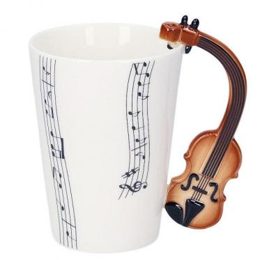 Puodelis su smuiko formos rankena, 250 ml