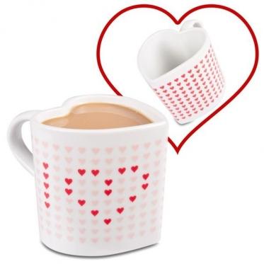 """Širdelės formos spalva keičiantis puodelis """"Magiškos širdelės"""", 330 ml"""