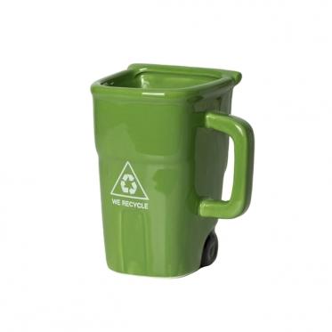 Šiukšliadėžės formos puodelis, 410 ml