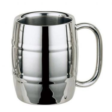 Statinės formos nerūdijančio plieno dvigubų sienelių puodelis alui, 400 ml