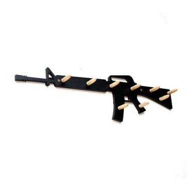 """Šautuvo formos drabužių kabykla """"M16"""", 60 x 18 x 1 cm"""