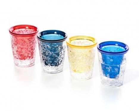 Dvigubo stiklo taurelės su šaldomuoju geliu, 4 vnt