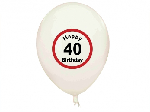 "Balionai ""Happy Birthday 40"", 5 vnt"