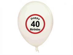 "Balionai ""Happy Birthday 40"", 5 vnt"