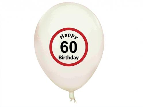 "Balionai ""Happy Birthday 60"", 5 vnt"